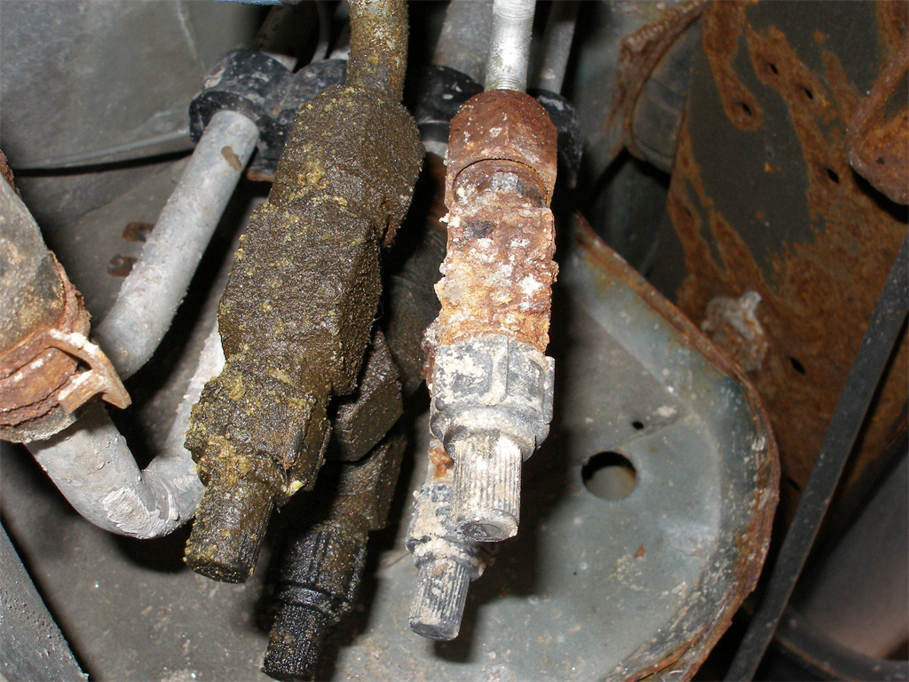 The Rusted Corroded Valves (All Four)