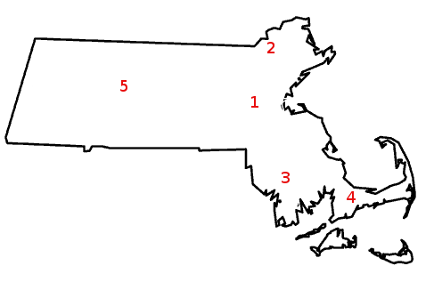 Map of MA