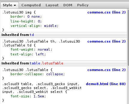 Ics paul bastide for Css inline table
